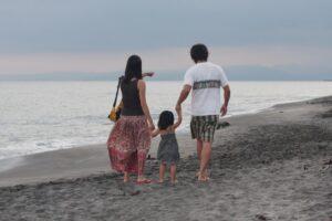 鎌倉で生活する家族